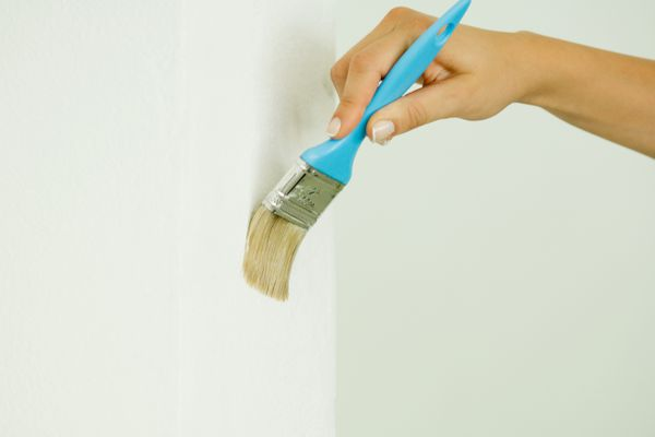 Touching up a painted wall