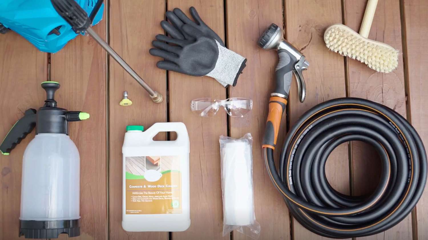 items for power washing a deck