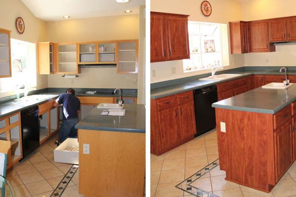 Cabinet Refacing - Before and After