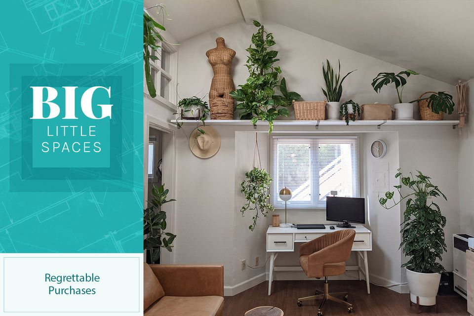 Denise Bayron's tiny home includes many plants, some of which she regrets purchasing