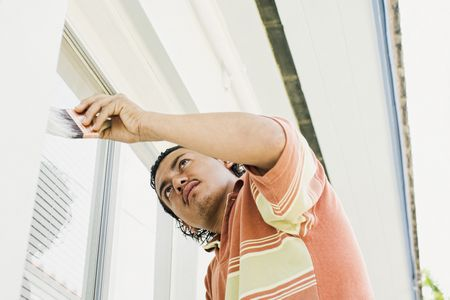 how to clean old white upvc window frames