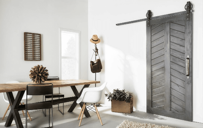 barn door in room