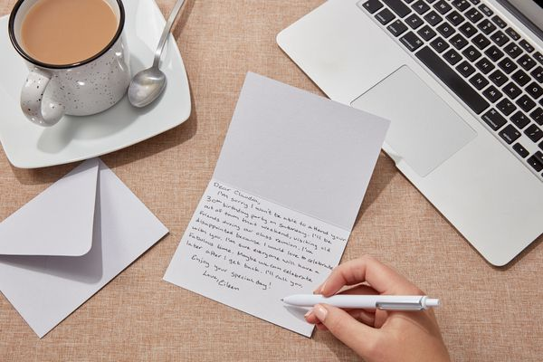 writing a note declining an invitation