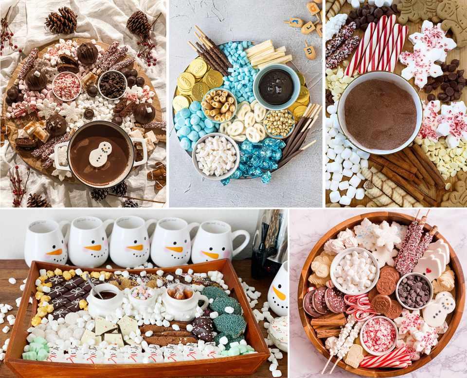 Cocoa board collage