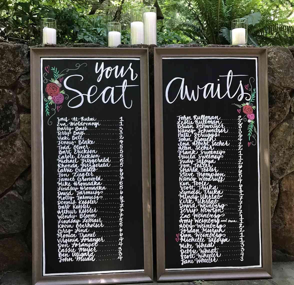 tabla de asientos