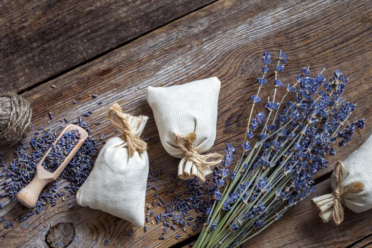 Lavendar flowers and sachets