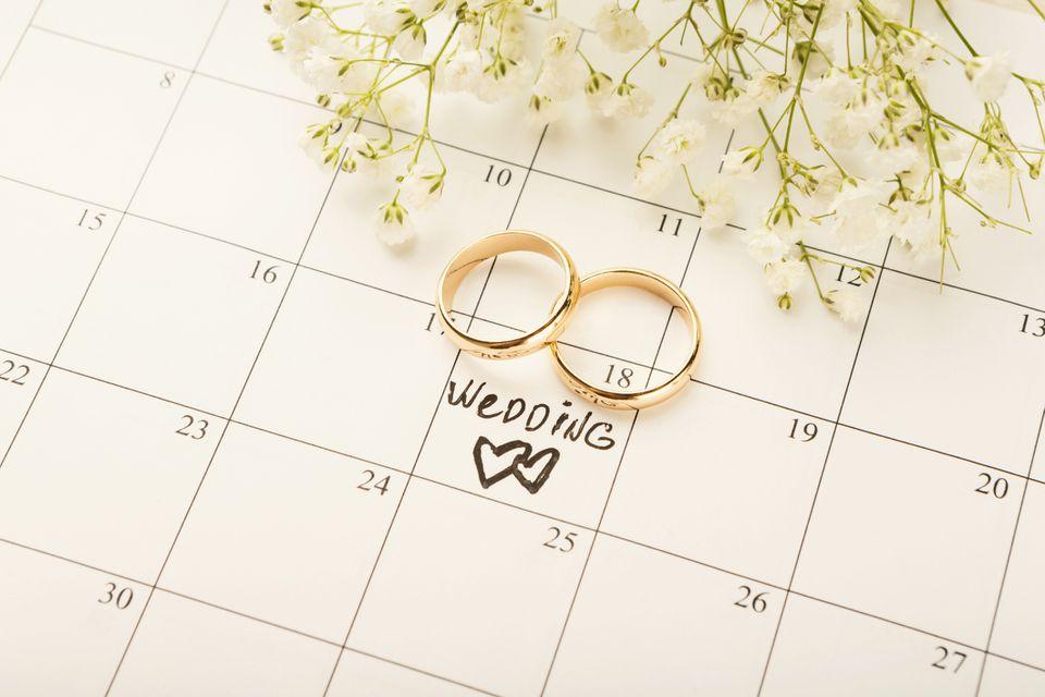 Wedding calendar date