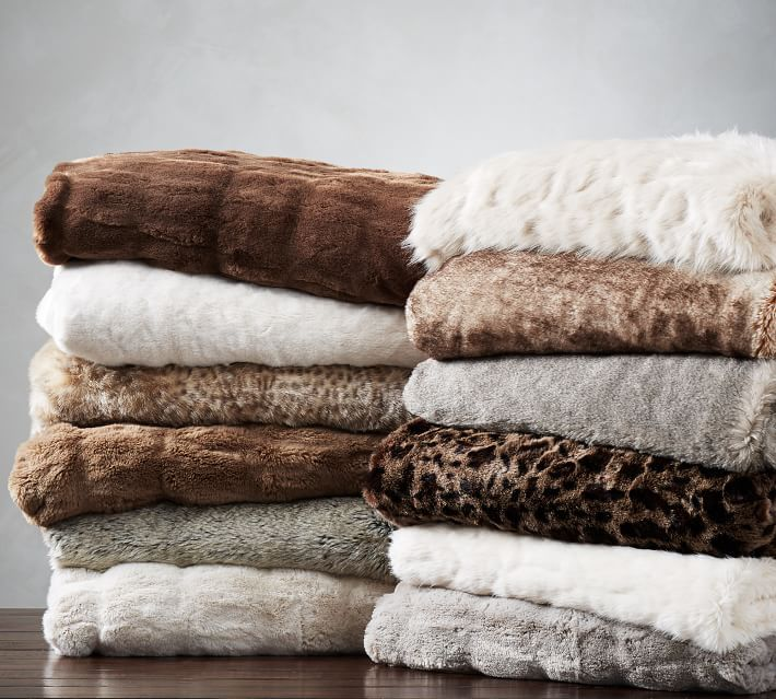 The 40 Best Throw Blankets To Buy In 20140 Amazing Faux Fur Throw Blanket Pottery Barn