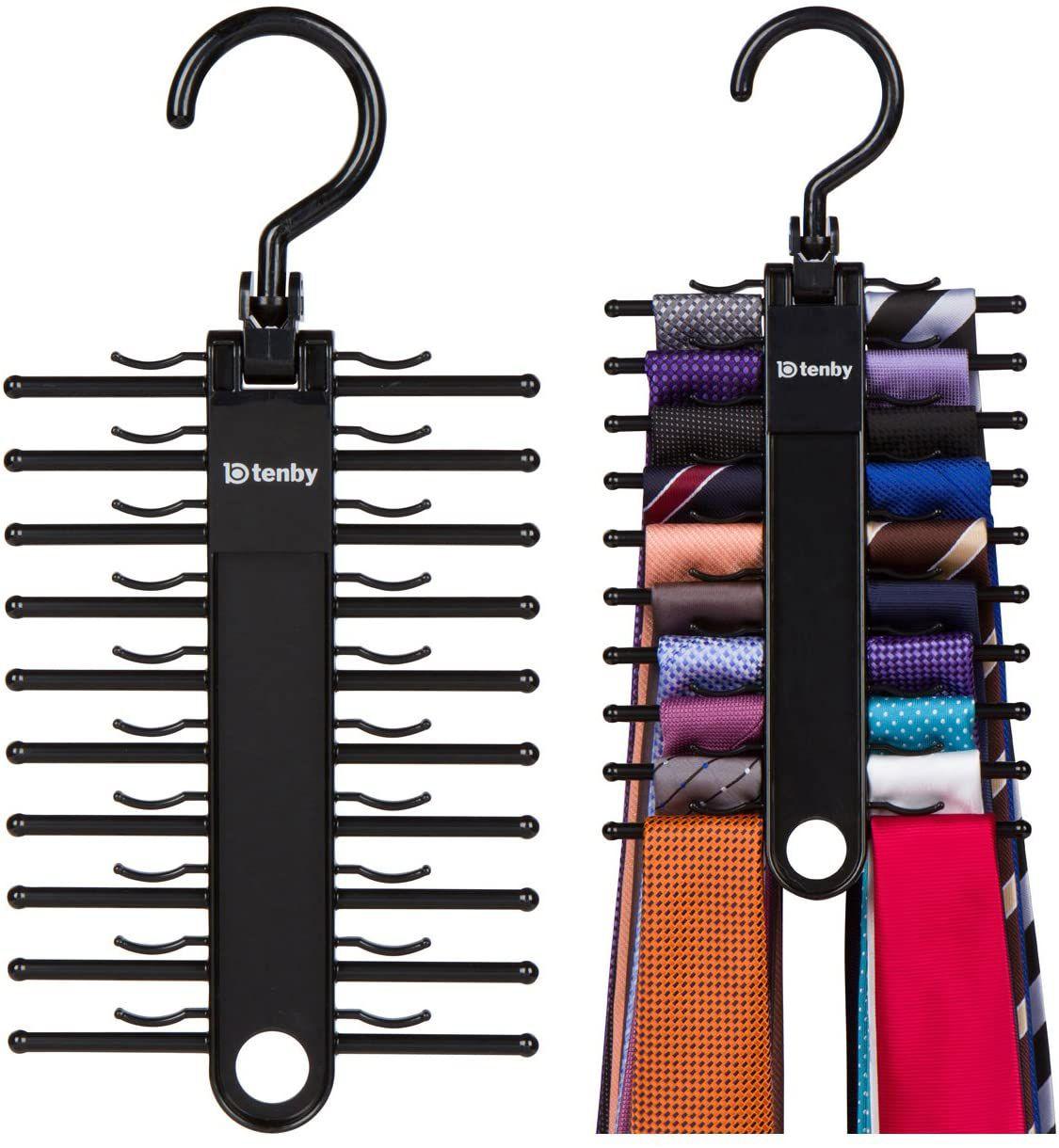 Tenby Living Black Tie Rack