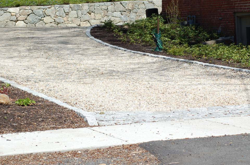 Image of a crushed-stone driveway.
