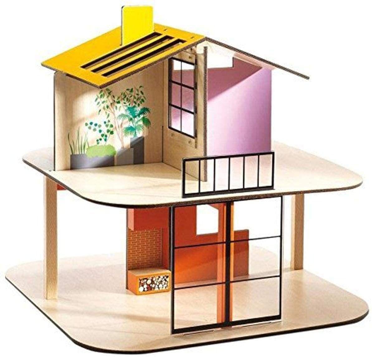 DJECO Color Dollhouse Playset