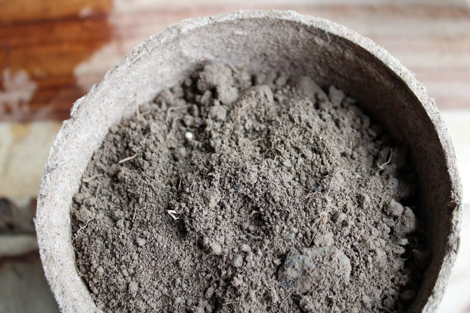 closeup of clay soil