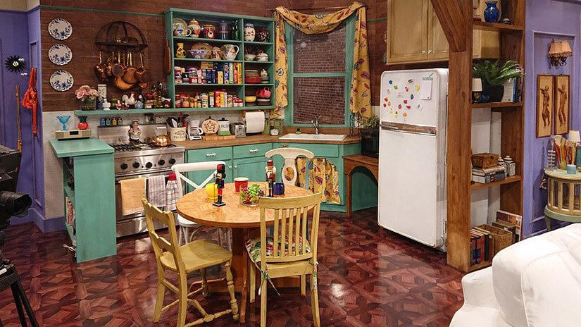 The kitchen set from Friends