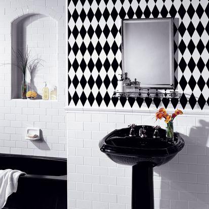 azulejo de baño arlequín