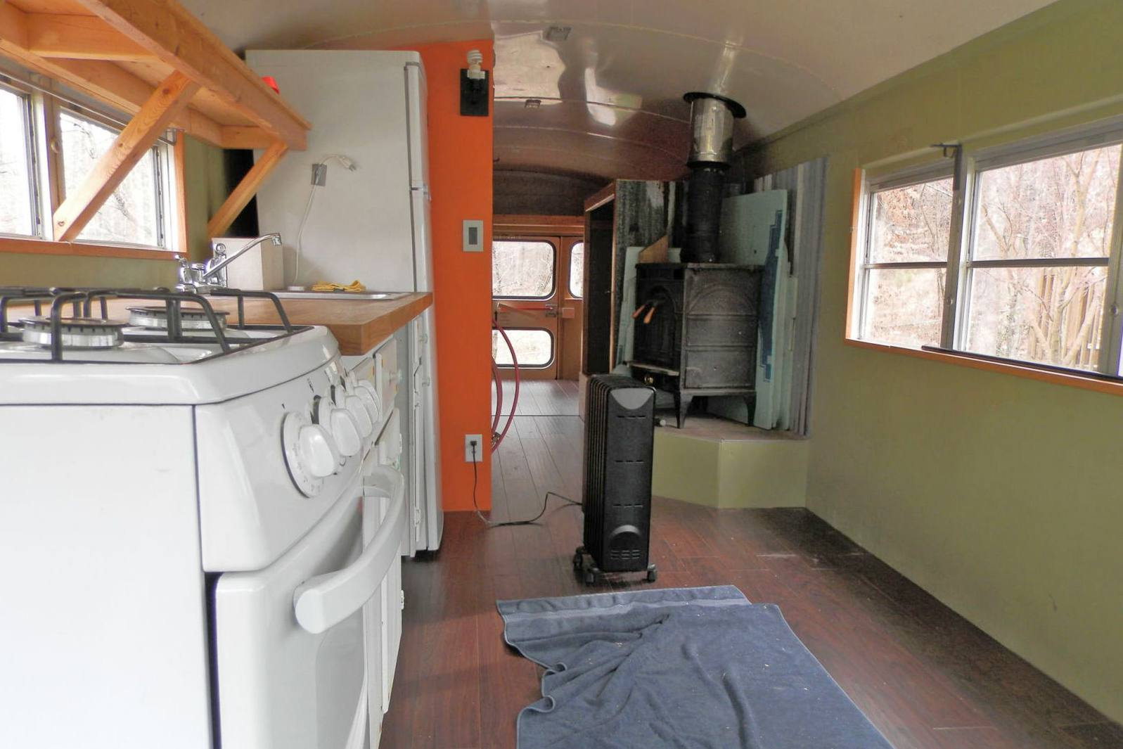 Bus before house renovation