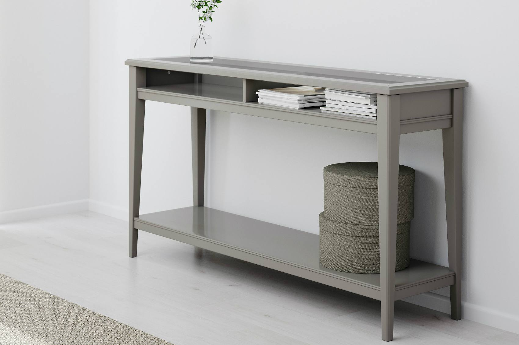 Grey Wood Sofa Table Modern Gray Console