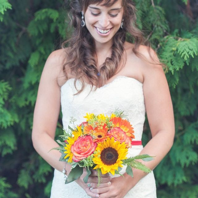 Sunflower Summer Wedding Bouquet