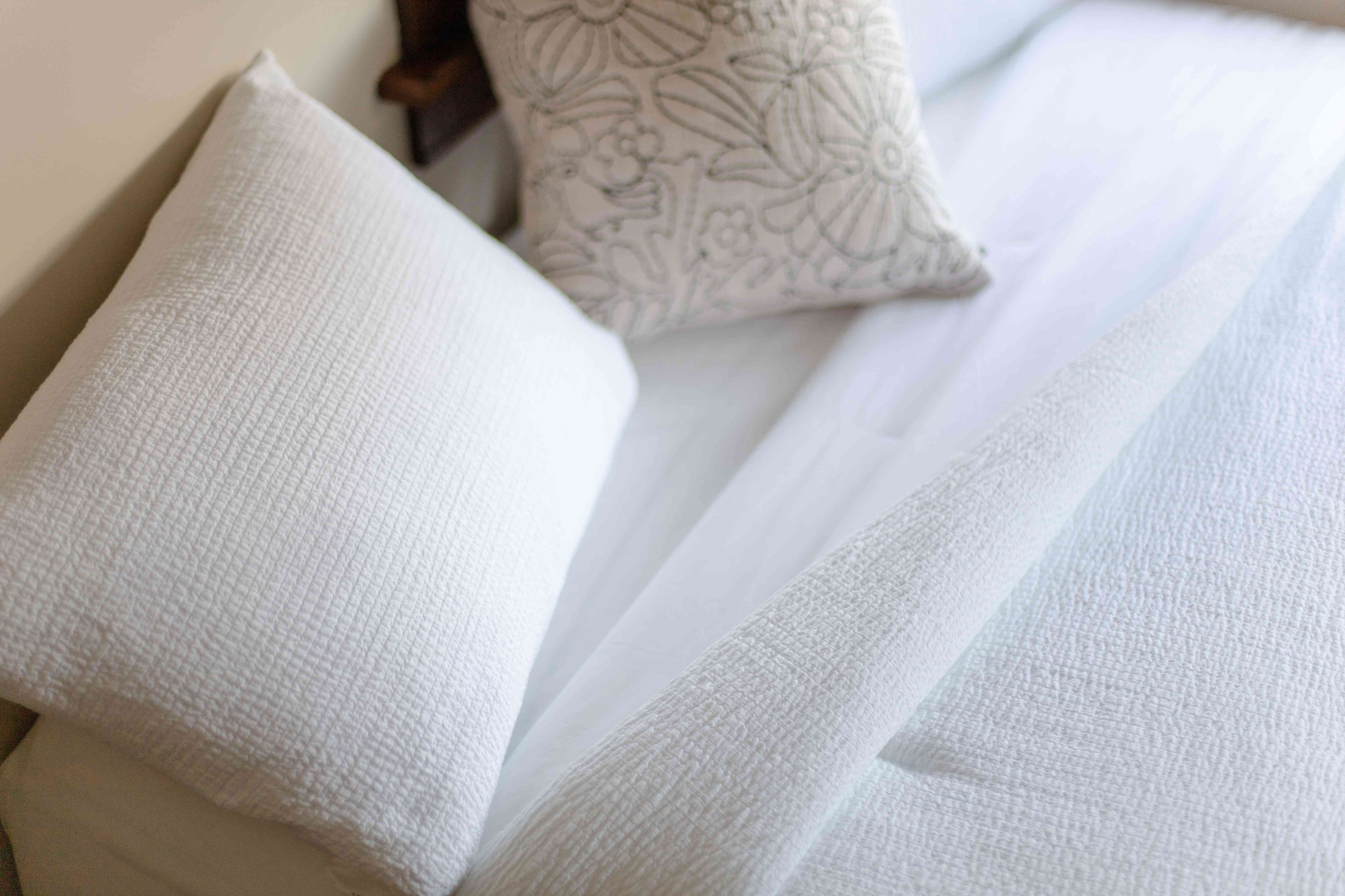 comforter with design and texture