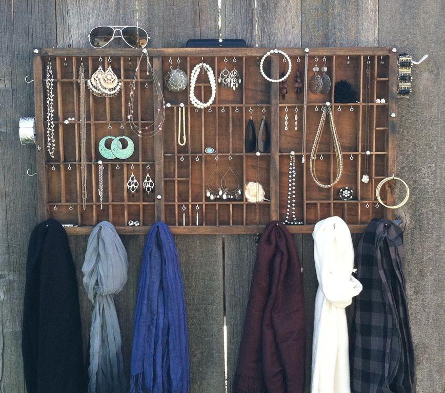 Letterpress drawer ideas for jewelry