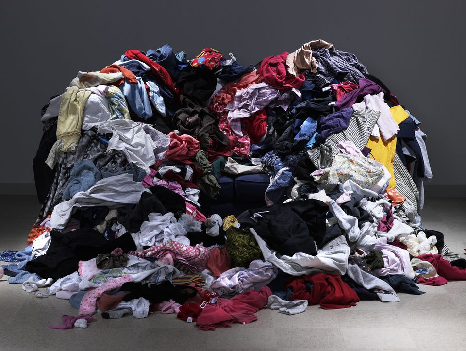 A vast stack of old clothes