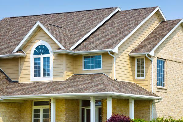 House with Brick, Architectural Vinyl Siding, Asphalt Shingle Roof