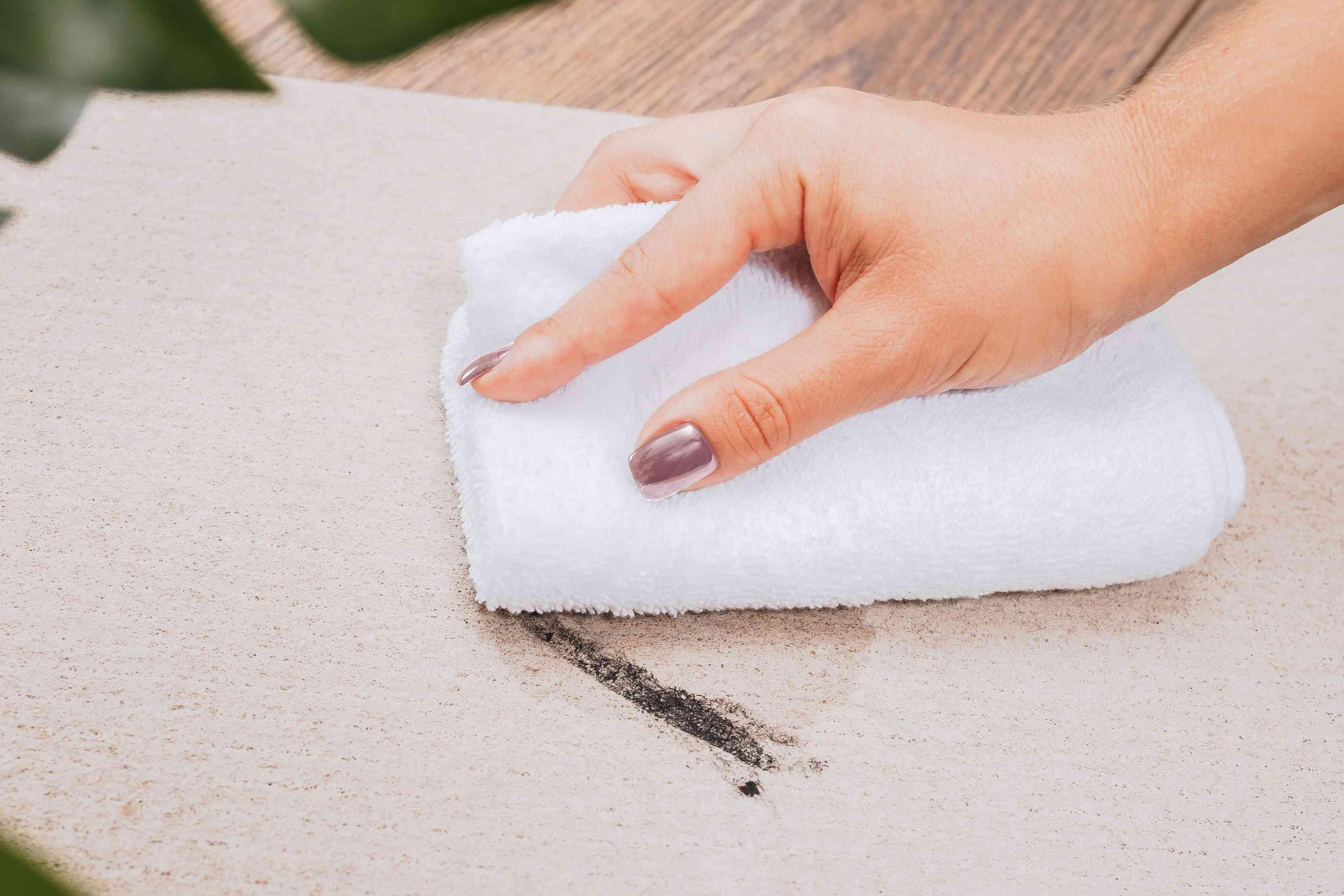 blotting mascara stains from carpet
