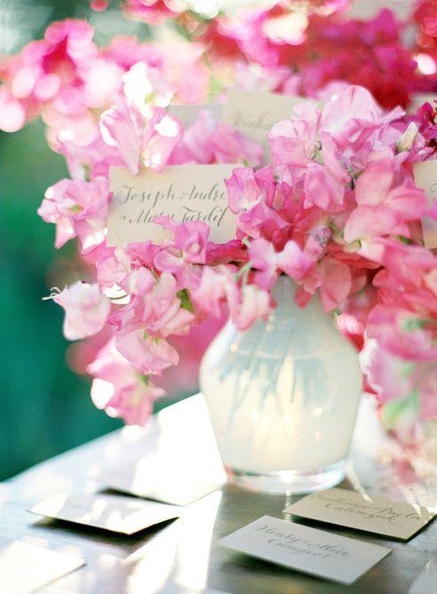 Centro de mesa de boda Sweet Pea Spring