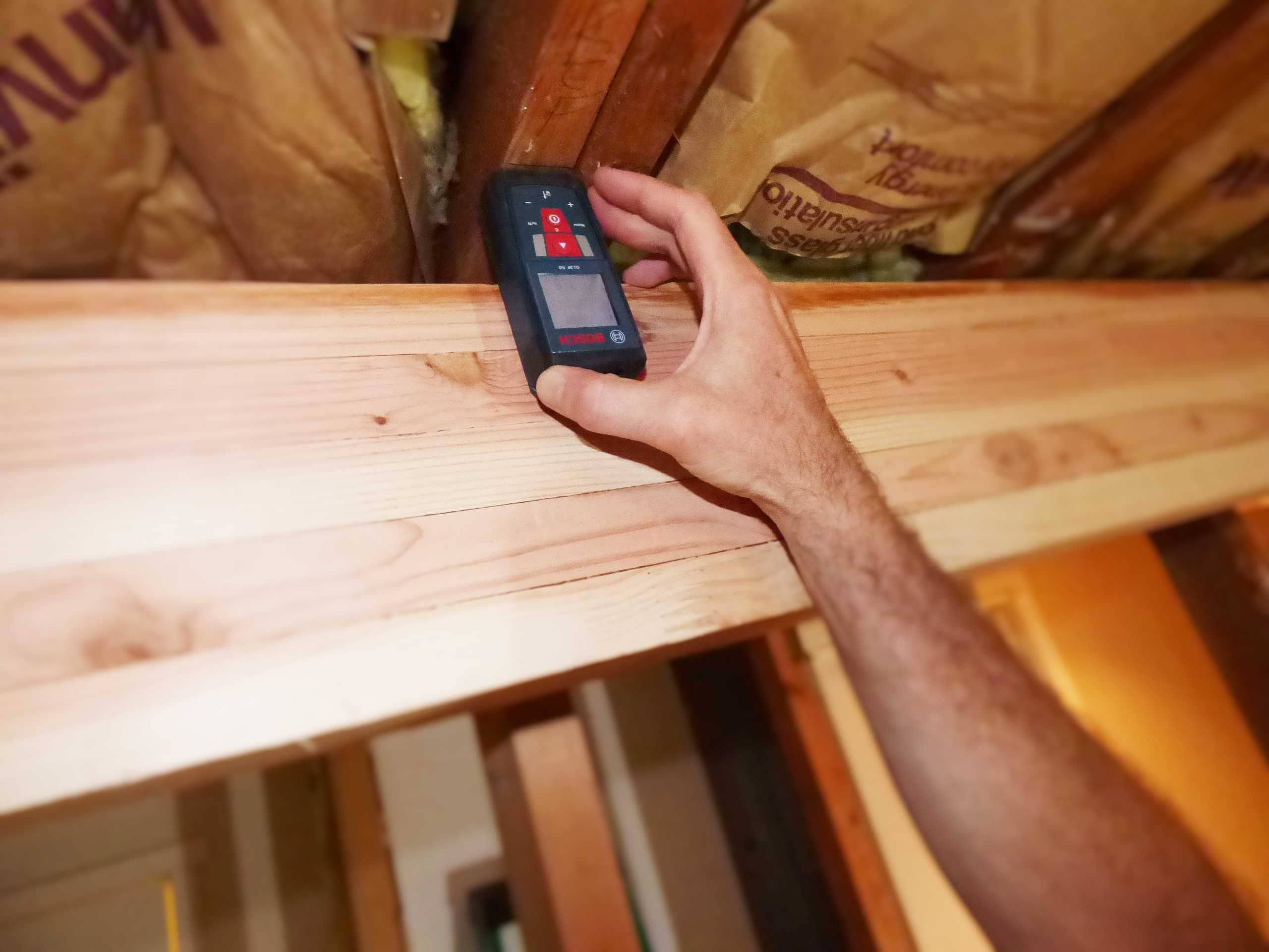 Use Laser Measurer To Check Joist Movement