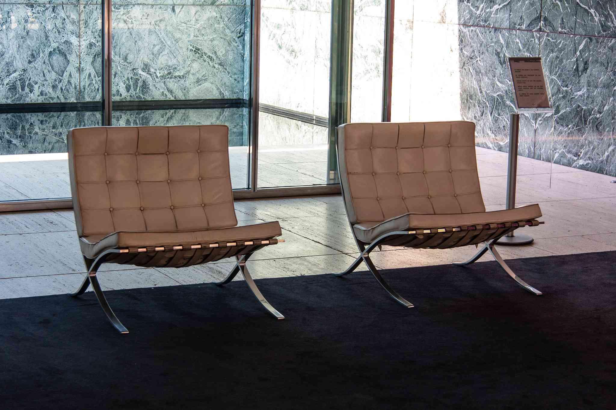 Set of Barcelona chairs