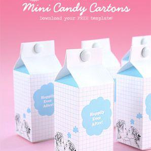 Cajas de favor azules y blancas que parecen leche cajas de cartón