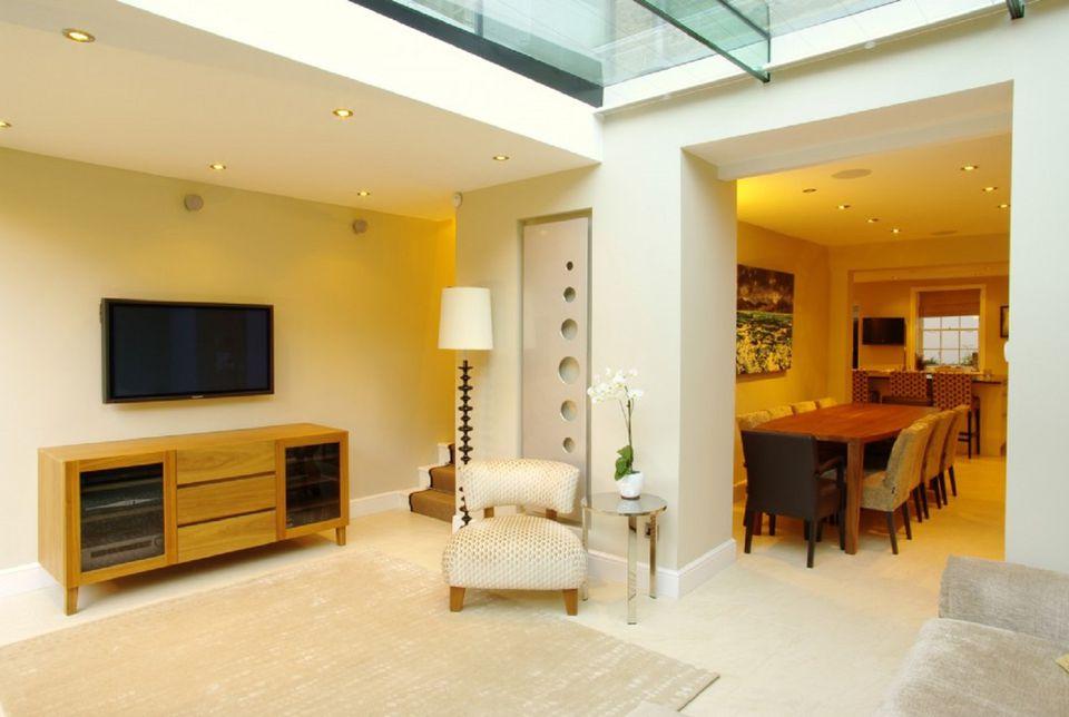 Broken Plan Style Living Room
