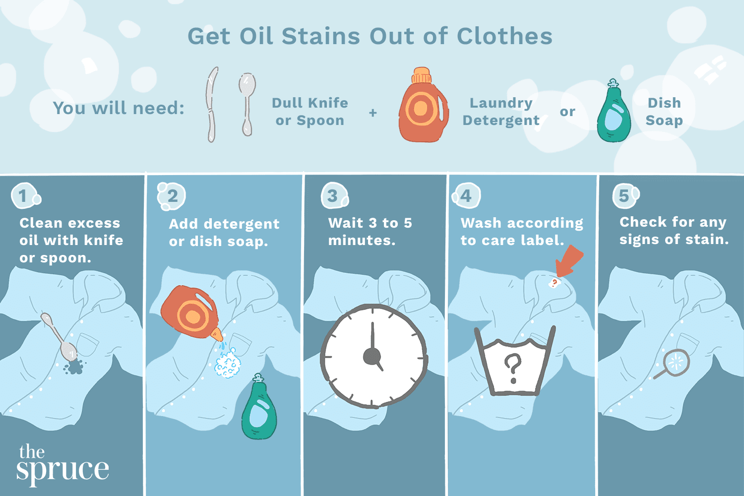 Steps to Remove Pickle Oil Stains from Clothes