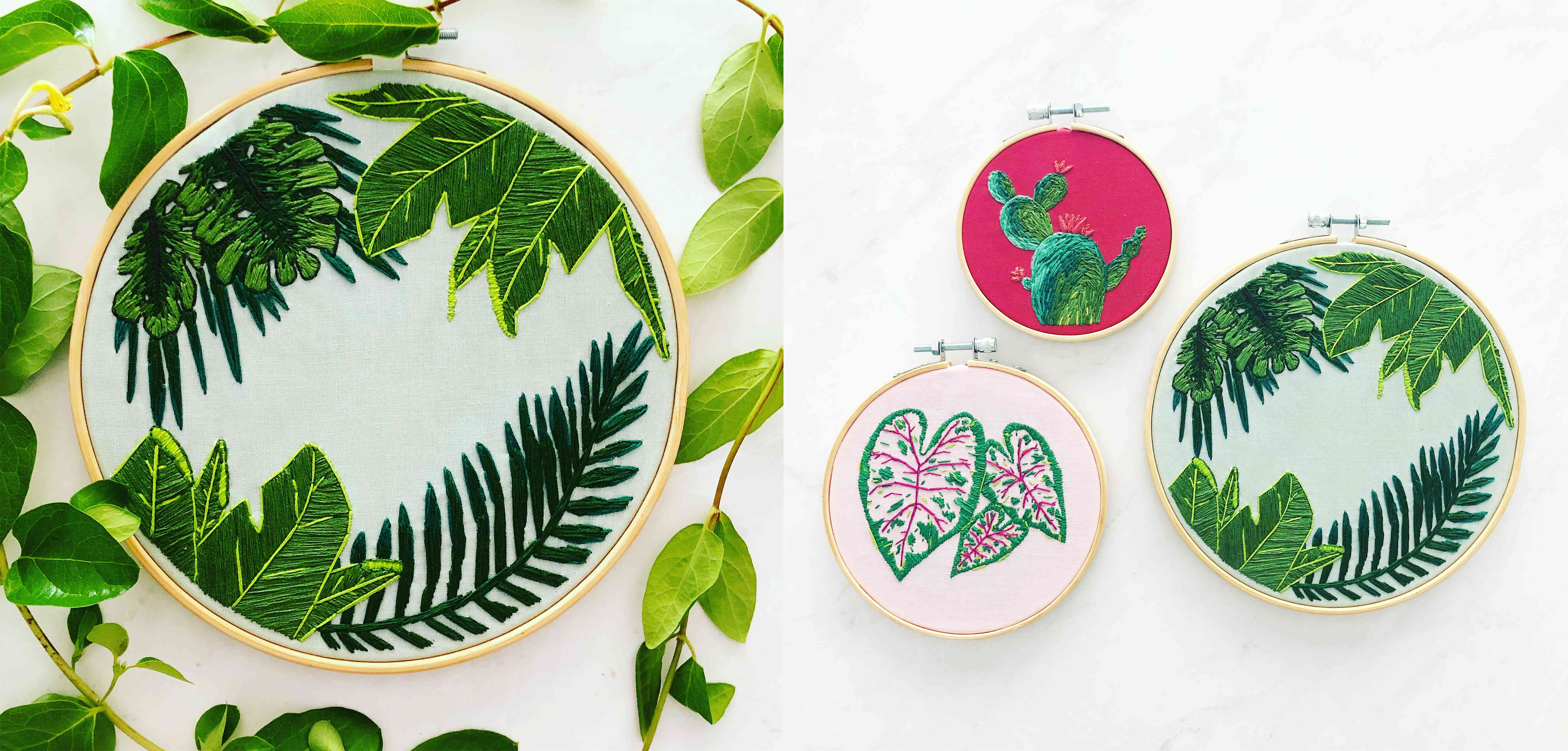 Megan Tabor plant embroider