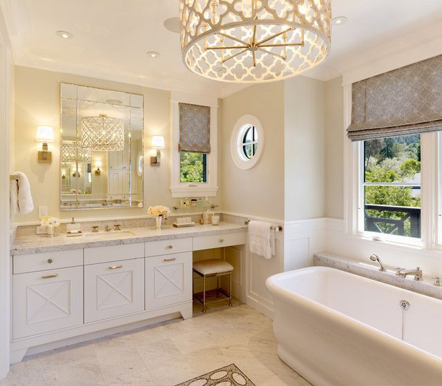 Dream Bathroom With Roman Shades