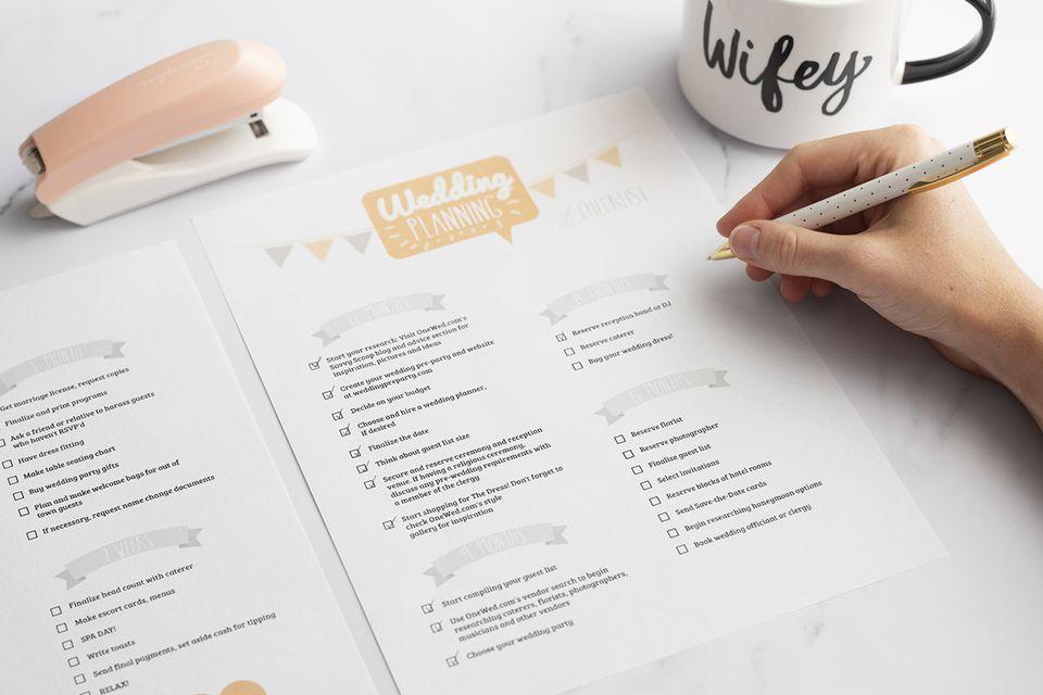 lista de verificación de la boda