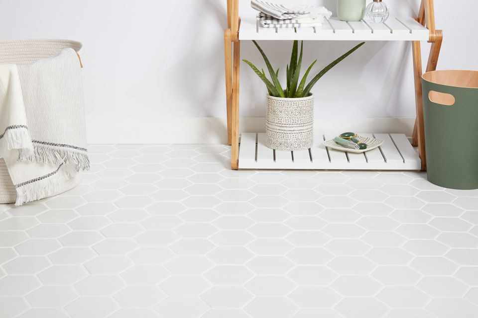 Bathroom porcelain tile floor