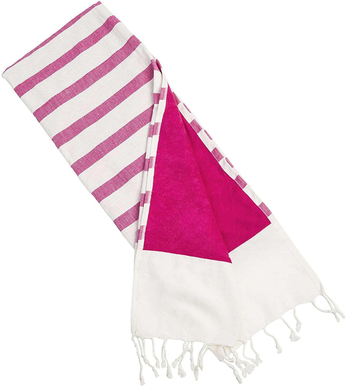 Bahari Bay Turkish Beach Kikoy Towel Lined with Terry Cloth