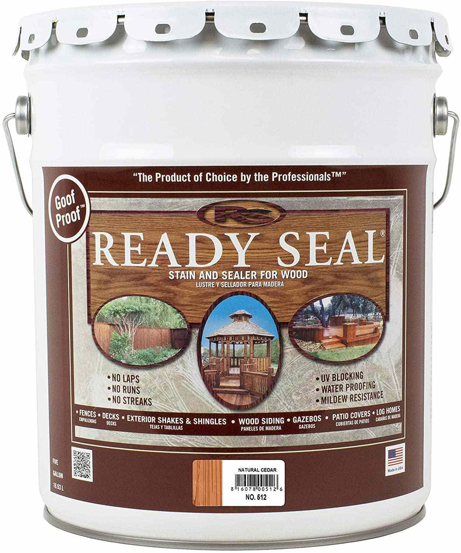 Ready-Seal Natural Cedar Exterior Wood Stain and Sealer, 5 Gallon
