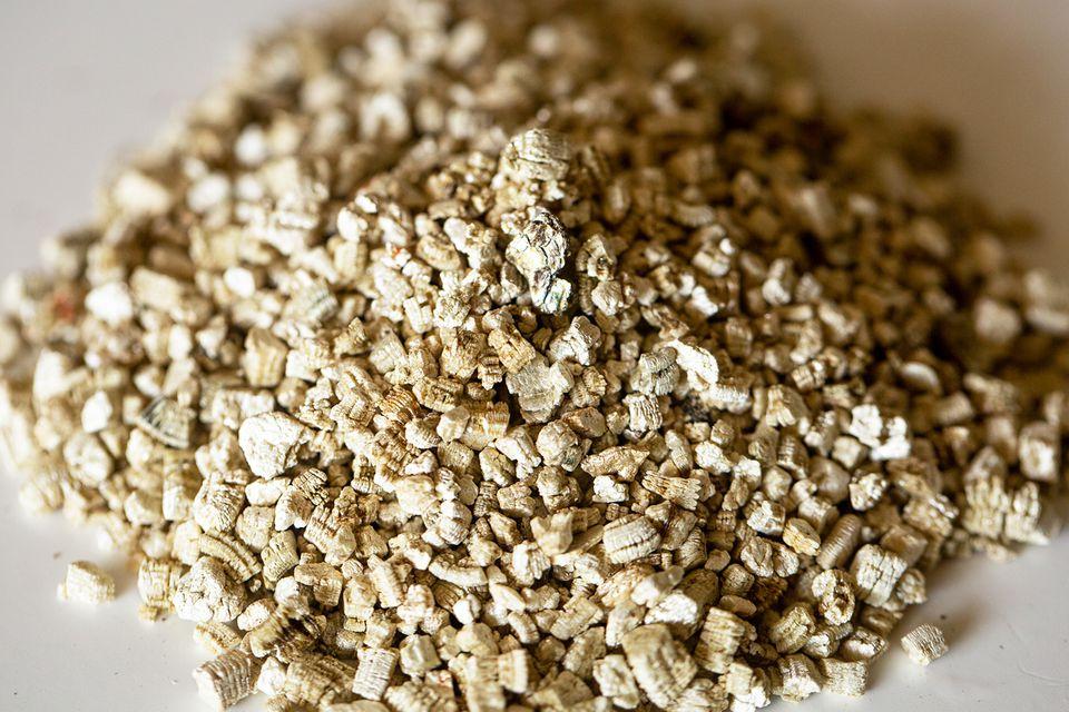 Pile of vermiculite soil amendment closeup