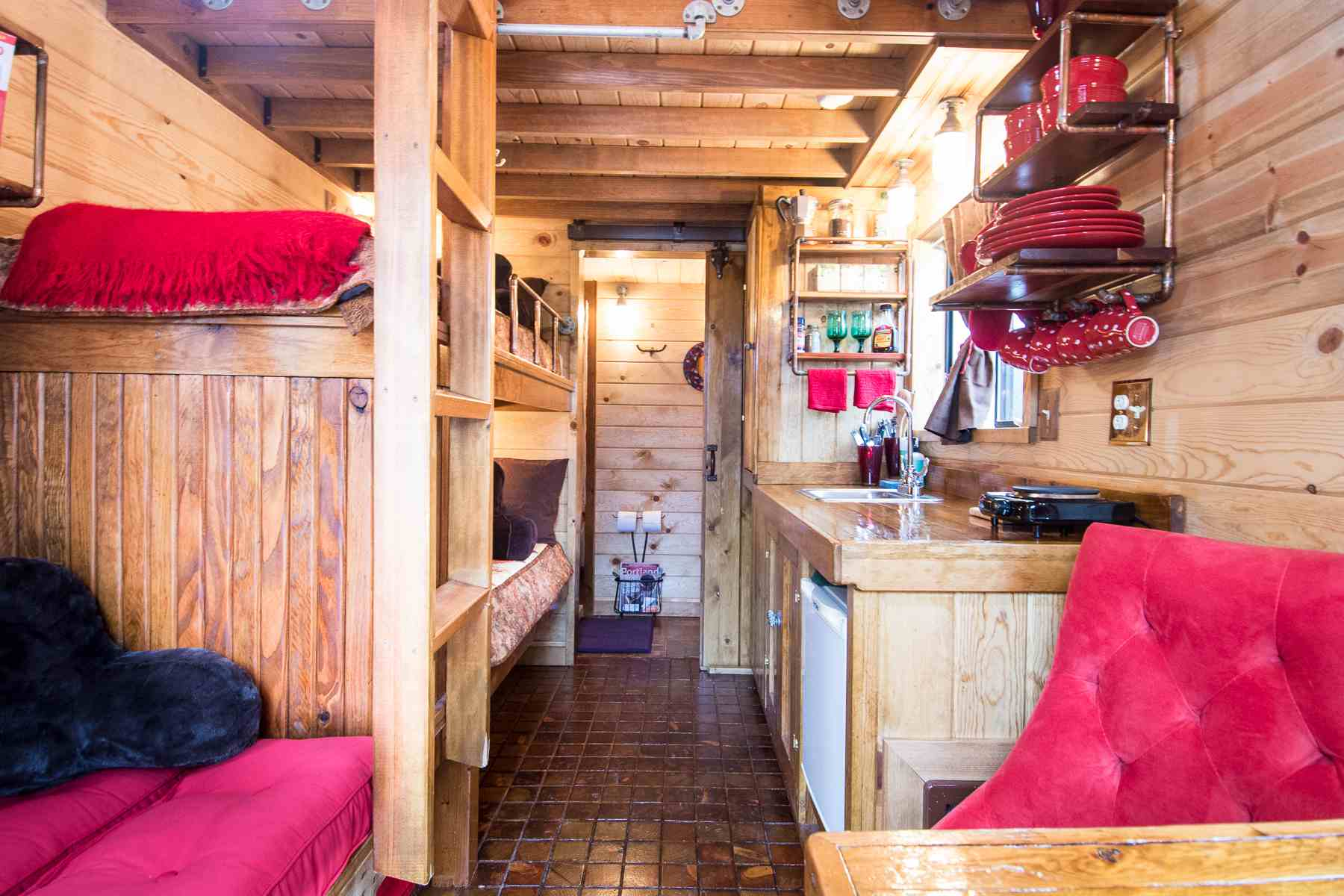 The Caravan is a One-of-a-Kind Boutique Hotel on caboose home plans, bobber caboose model plans, caboose interior plans, caboose construction plans, caboose diy plans, caboose cabin plans, caboose shed plans,