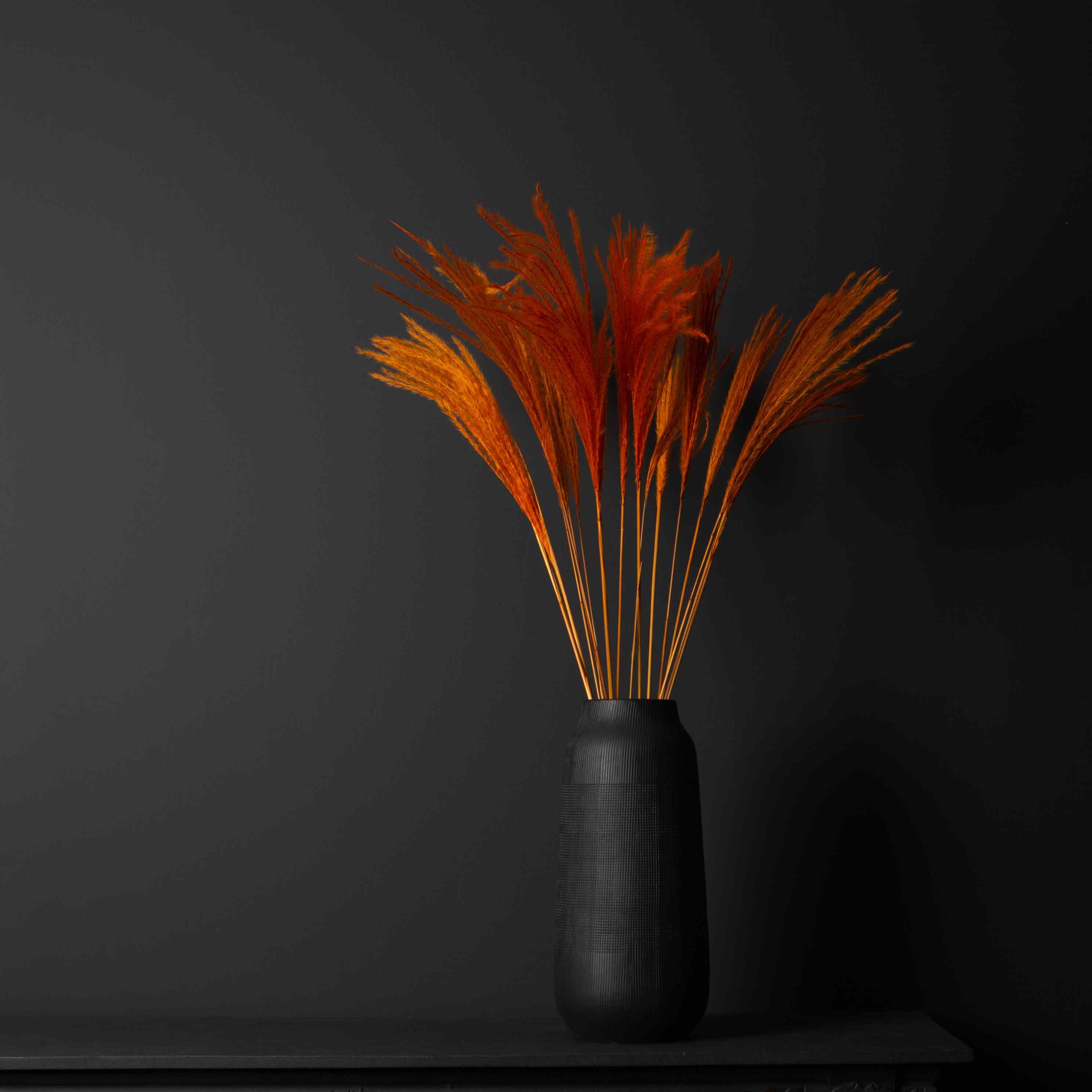 orange strip feathers for fall decor