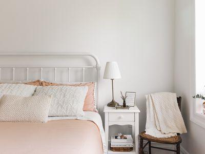 beautifully-made bed