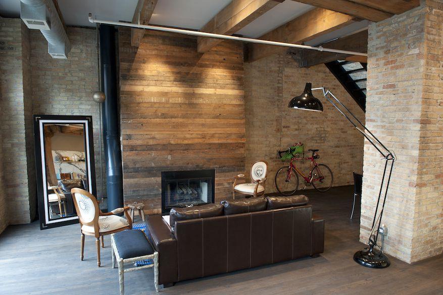 Erie Street Loft con chimenea de paleta