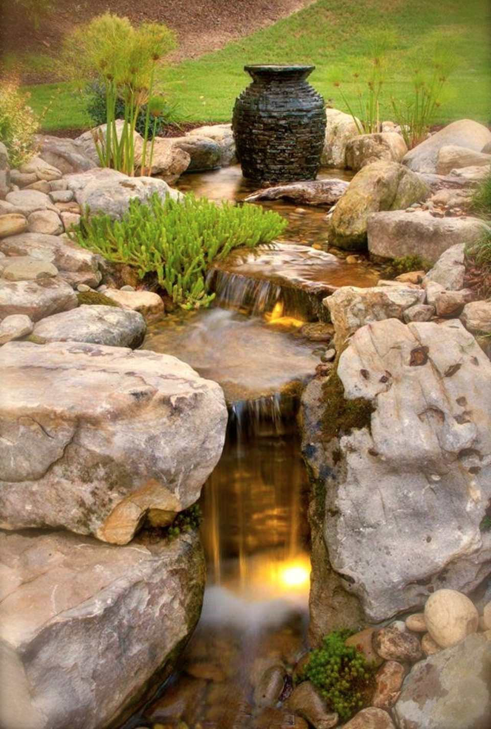 25 Pond Waterfall Designs and Ideas on Small Pond Waterfall Ideas id=67776