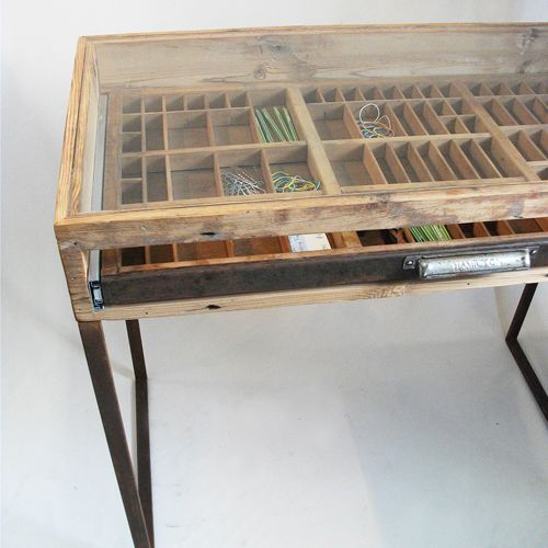 Turning a letterpress drawer into a table