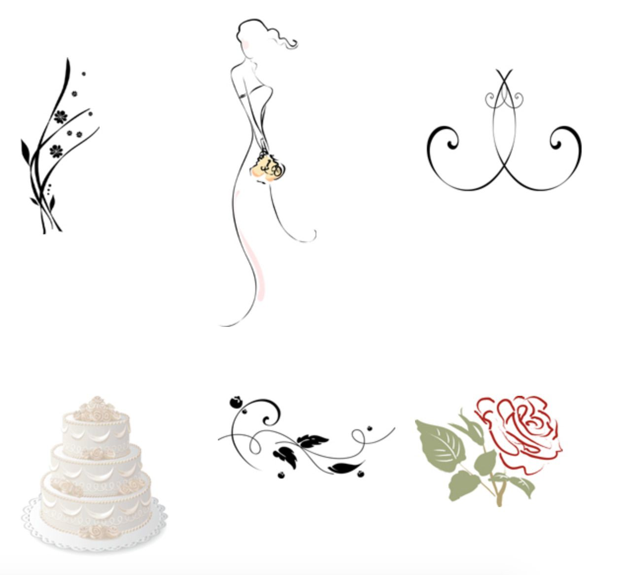 Wedding Graphics: 9 Places To Download Free Wedding Clipart