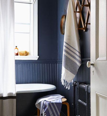 Blue Bathroom C Farandwidecollective