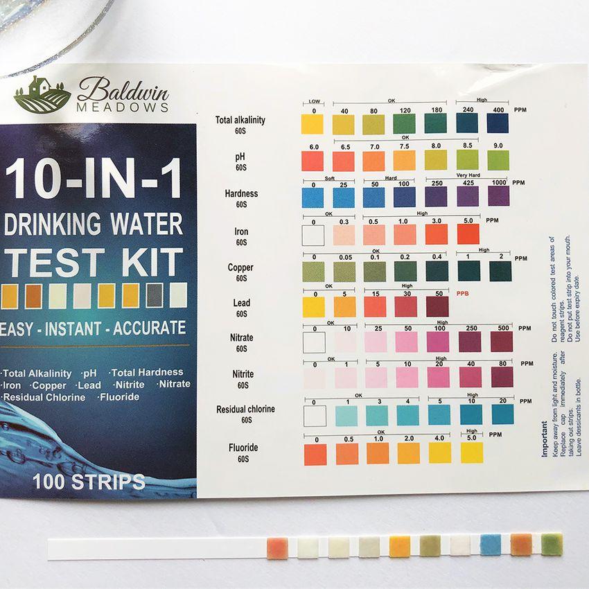 Baldwin Meadows 10-in-1 Drinking Water Test Kit