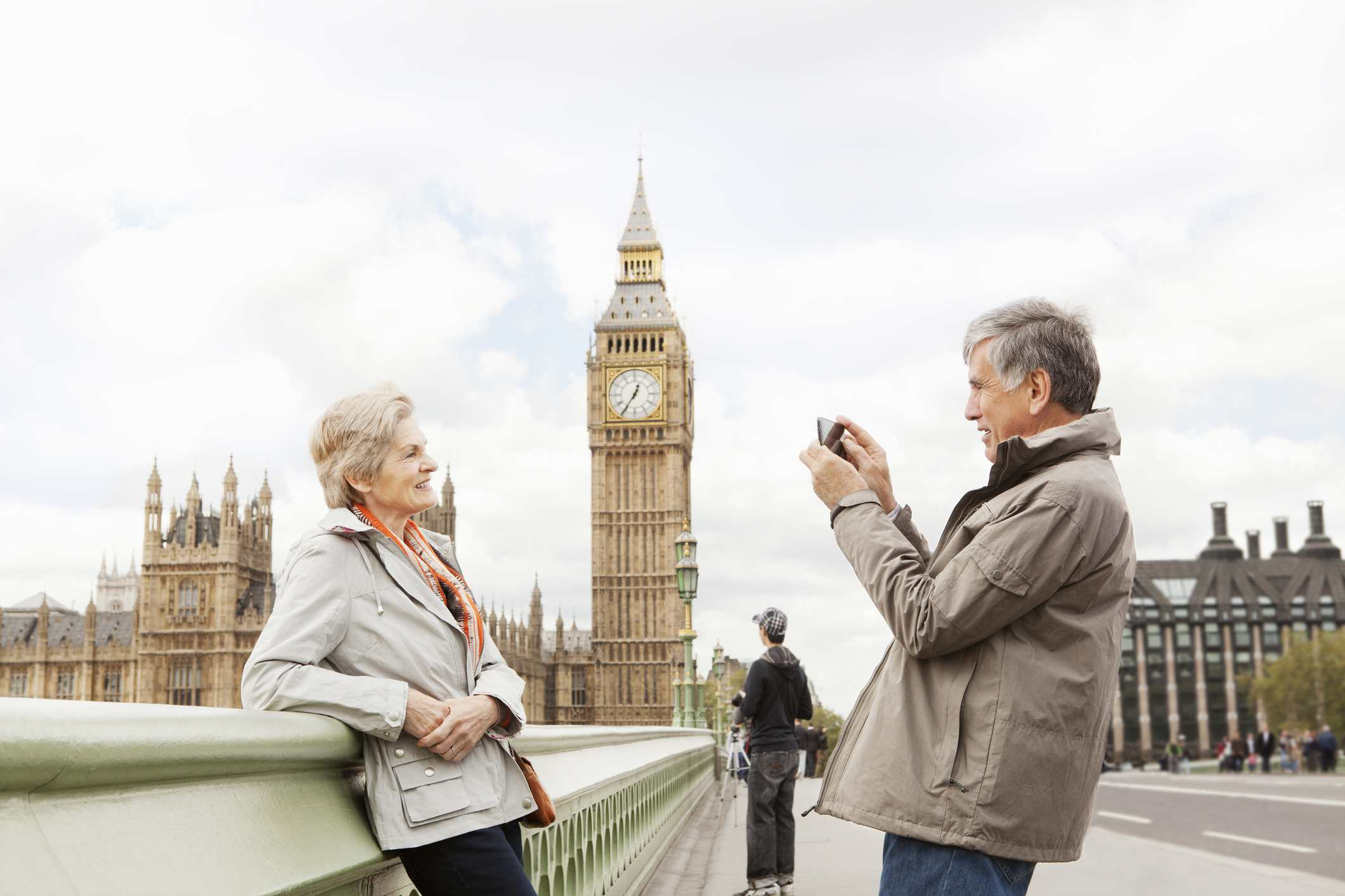 Mature couple in London