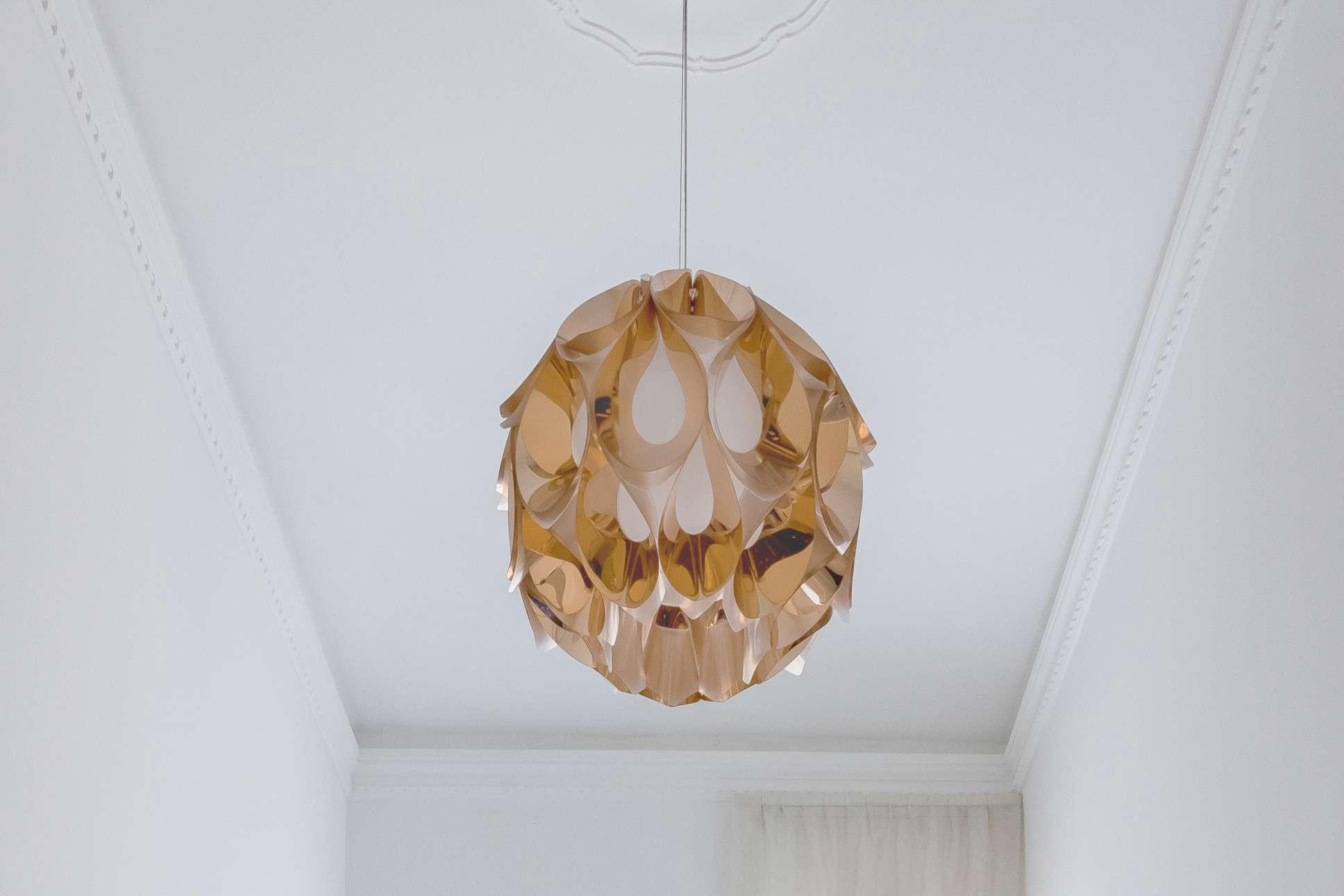 elaborate art deco light fixture